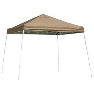 ShelterLogic HD Series 12-ft x 12-ft Desert Bronze Square Slant Leg Pop-Up Canopy
