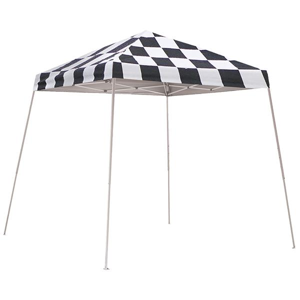 ShelterLogic Pop-Up Canopy HD® Slant Leg - 8-ft x 8-ft - Checkered