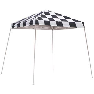 ShelterLogic HD Series 8-ft x 8-ft Checkered Flag Square Slant Leg Pop-Up Canopy