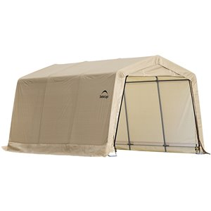 ShelterLogic 15-ft x 10-ft Off-White AutoShelter Portable Garage