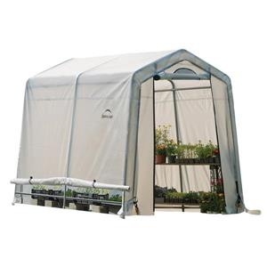 ShelterLogic GrowIT 6.5-ft x 8-ft Translucent White Greenhouse-in-a-box