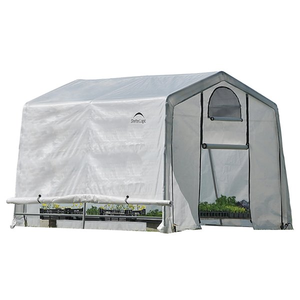 GrowIT Greenhouse-in-a-Box 10x10ft Peak Greenhouse