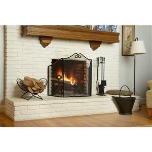 ShelterLogic Fireplace Toolset - 5 Pieces - Black