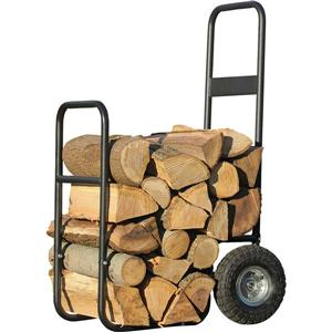 ShelterLogic Haul-It Wood Mover® Rolling Firewood Cart - Black