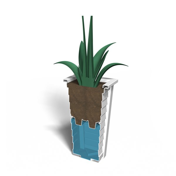 Mayne Lakeland White 28-in Tall Planter