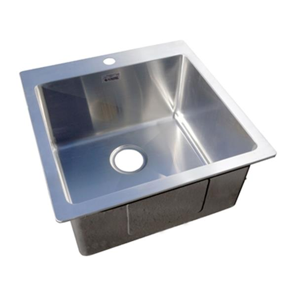 Acri-Tec Platinum Collection 10-in x 20-in Stainless Steel Drop-in Small Radius Corner Single Basin Laundry and Utility Sink