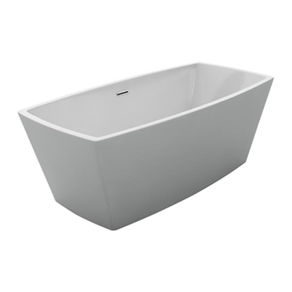 Acri-tec Industries Renoir Opulence 67-in x 31.50-in White Freestanding Acrylic Bathtub