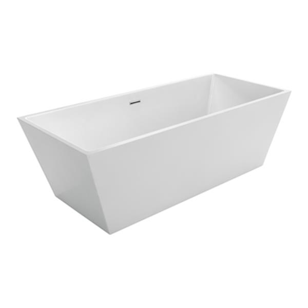 "Tours Opulence Freestanding Bathtub - 67"" x 31.5"" - White"
