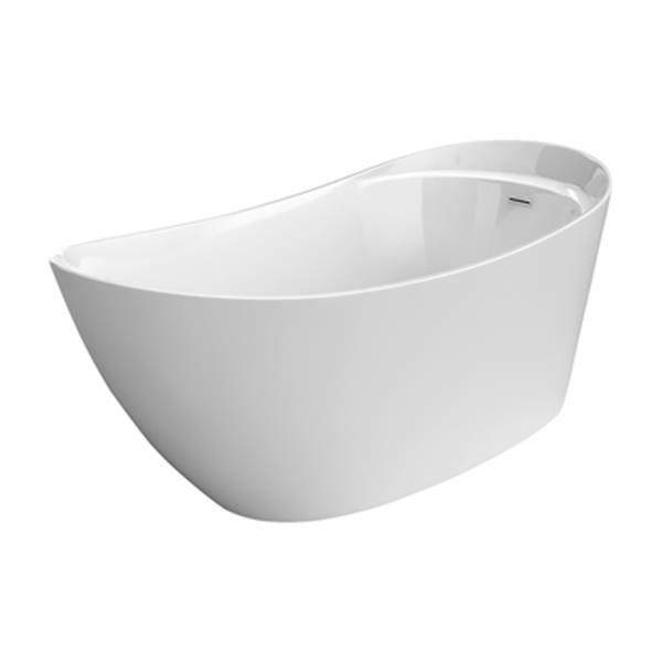 "Acri-tec Industries Opulence Freestanding Acrylic Bathtub - 67"" x 29.5"" - White"