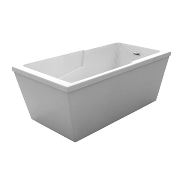 Acri-tec Industries Marlo Opulence 60-in x 32-in White Freestanding Acrylic Bathtub