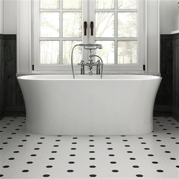 "Acri-tec Freestanding Acrylic Bathtub - 59"" x 29.5"" - White"