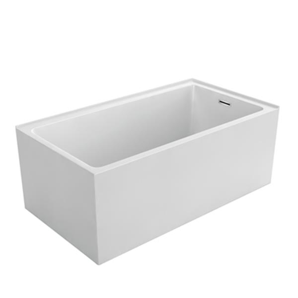 "Acri-tec Industries Simplicity Niche Semi-Freestanding Bathtub - 59"" - White"