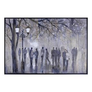 ArtMaison Canada Street Walk 38.5-in x 56.5-in Framed Art