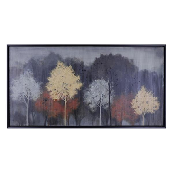 ArtMaison Canada Water Color Trees 26.5-in x 50.5-in Framed Art