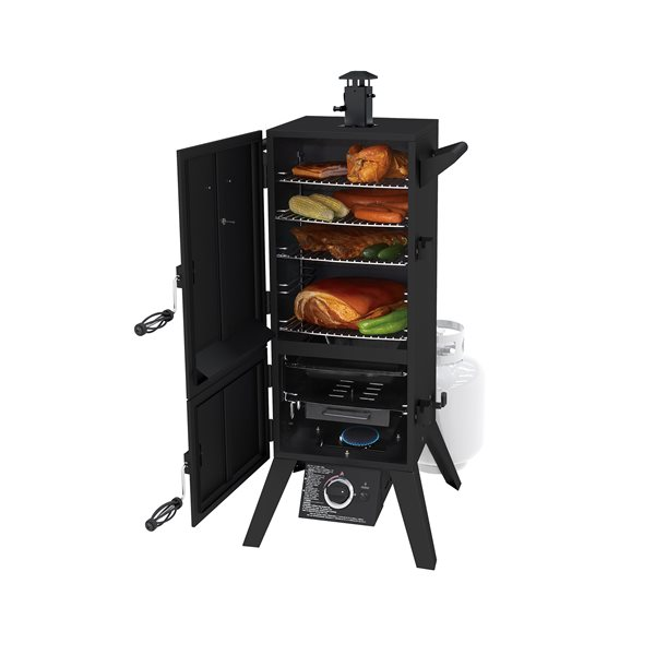 "Dyna-Glo Dual-Door Liquid Propane Gas Smoker - 36"""