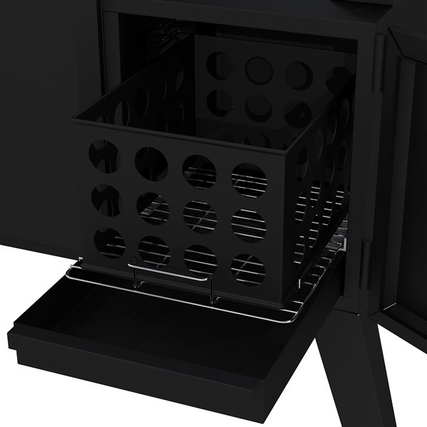 Dyna-Glo Wide-Body Vertical Offset Charcoal Smoker - Black