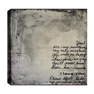 ArtMaison Canada 24-in x 24-in You are my Sunshine Canvas Art