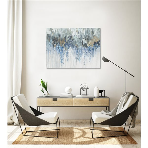 ArtMaison Canada Blue Visuals 30-in x 40-in Canvas Print Art