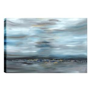 ArtMaison Canada Distant Rocks Abstract 30-in x 40-in Canvas Print Art