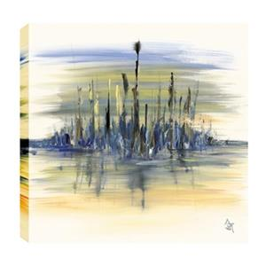 ArtMaison Canada Sea Side Abstract 24-in x 24-in Canvas Print Art