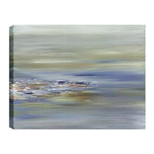 ArtMaison Canada Blue Water Rocks Abstract 30-in x 40-in Canvas Print Art