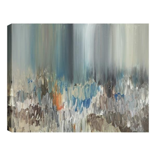 ArtMaison Canada Dark Pond Reflections Abstract 24-in x 48-in Canvas Print