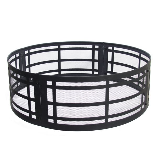 Pleasant Hearth Classic Fire Ring - 36-in - Steel - Black