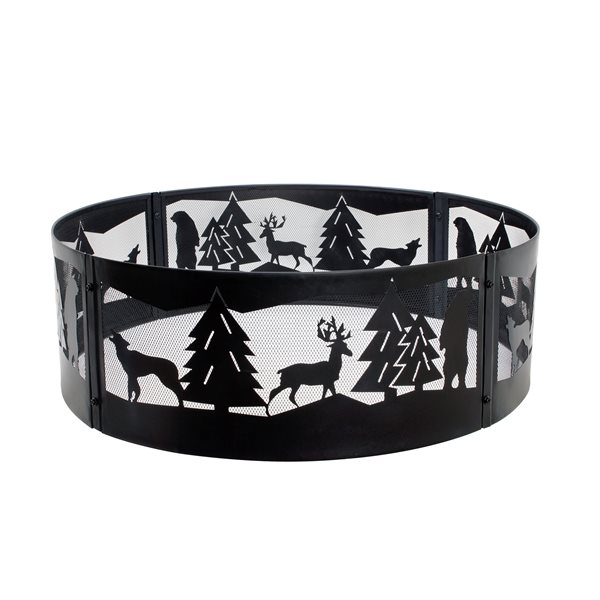 Pleasant Hearth Wildrness 36-in Black Fire Ring
