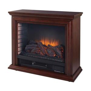 Pleasant Hearth Sheridan Mobile Fireplace - 31-in - Cherry