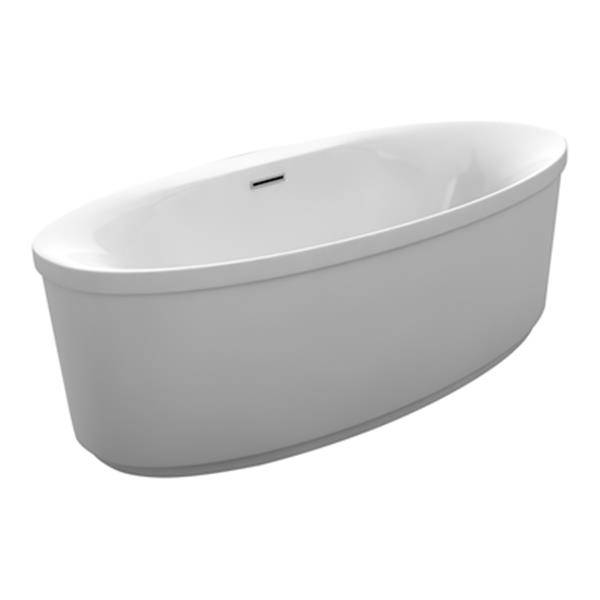 Acri-tec Industries Clarice 67-in x 33.50-in White Freestanding 2 Piece Soaker Bathtub