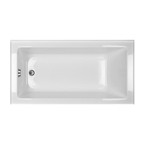 Acri-tec Industries 4115 30-in Clear Series Alcove Soaker Tu