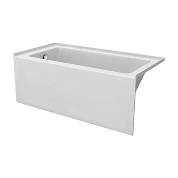 """Baignoire encastrée en acrylique d'Acri-tec, 60"""" x30"""", blanc"""