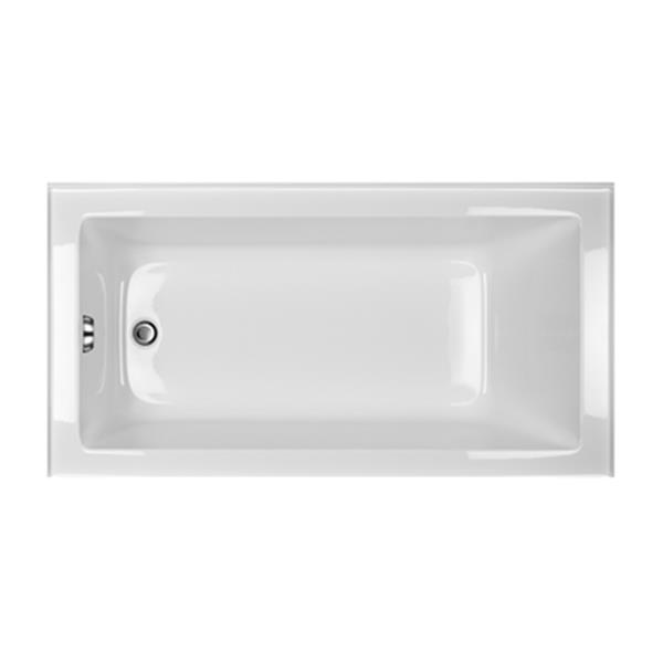 Acri-tec Industries Clear Series 60-in x 32-in White Left-Hand Alcove Soaker Tub