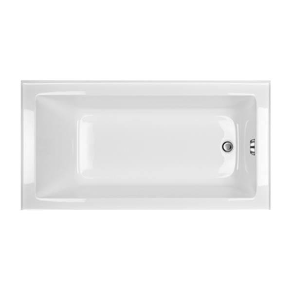 Acri-tec Industries Clear Series 60-in x 32-in White Right-Hand Alcove Soaker Tub
