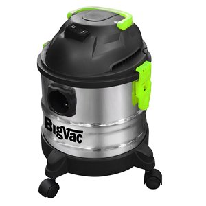 Big Vac 4 Gallon Wet/Dry Stainless Steel Vacuum