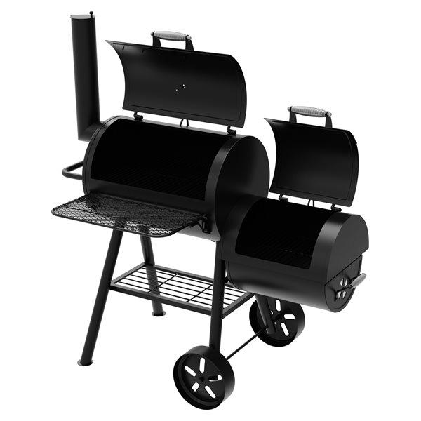 Dyna-Glo Barrel Charcoal Grill & Side Firebox