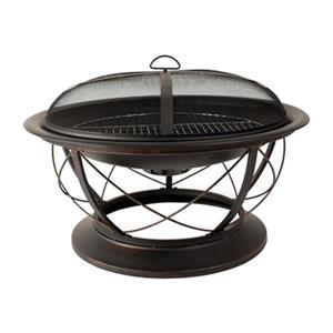 Pleasant Hearth Palmetto Fire Pit - Steel - Rubbed Bronze