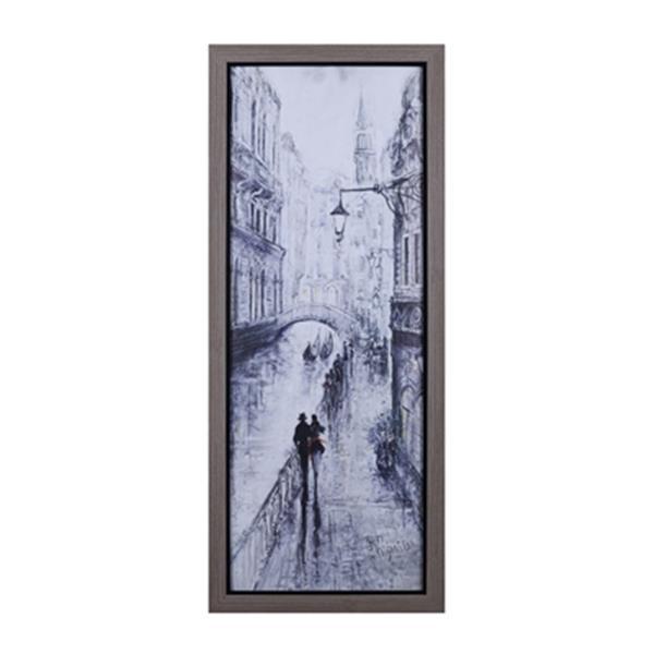 "ArtMaison Canada ""Venice Walk"" by Peter Kiyanista 50.75-in x 20.75-in Framed Art"