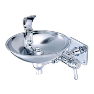 Central Brass Polished Chrome Wall Mounted Drinking Fountain with Vandal Resistant Cap