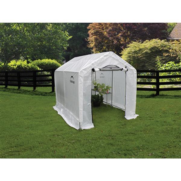 ShelterLogic GrowIT® Outdoor Greenhouse - 6-ft x 8-ft - Grey
