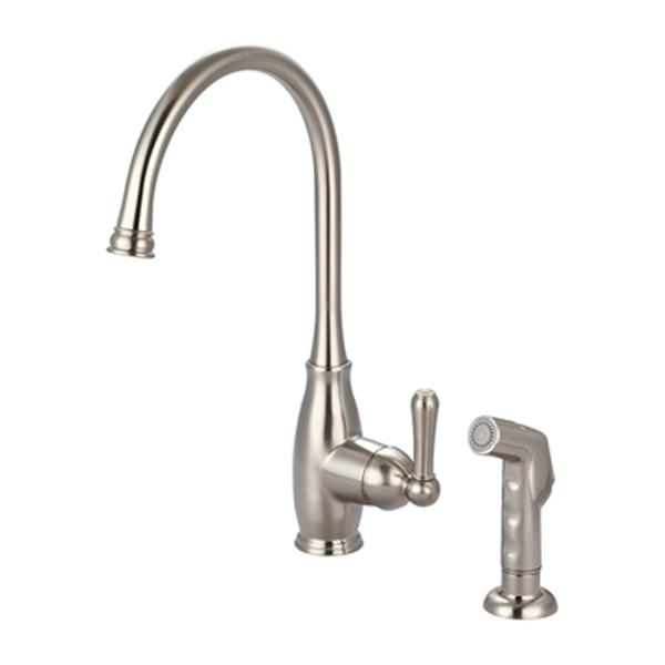Olympia Faucet Accent Single Handle Pull Down Brushed Nickel Kitchen Faucet