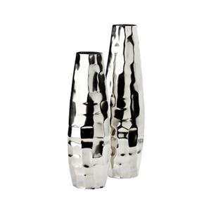Home Gear Aluminum Naples Vase (Set of 2)
