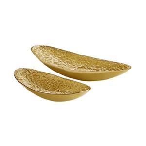 Home Gear Gold Mayan Boats Set Of 2