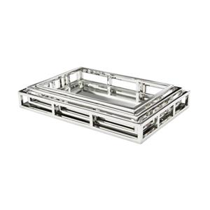 Home Gear Silver Celtic Rectangular Tray Set Of 3