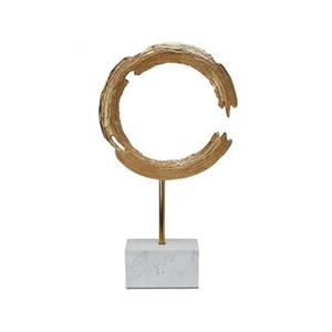 Home Gear Aluminum and Marble Broken Ring Sculpture