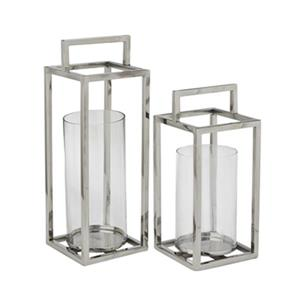 Home Gear Silver Habanero Lantern (Set of 2)