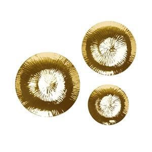 Home Gear Chimera Gold Plates Set Of 3