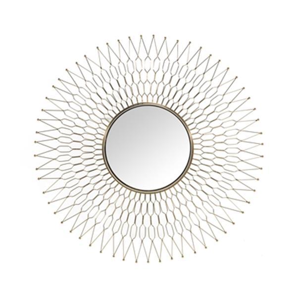 Home Gear 41.6-in Gold Athena Sunburst Wall Mirror