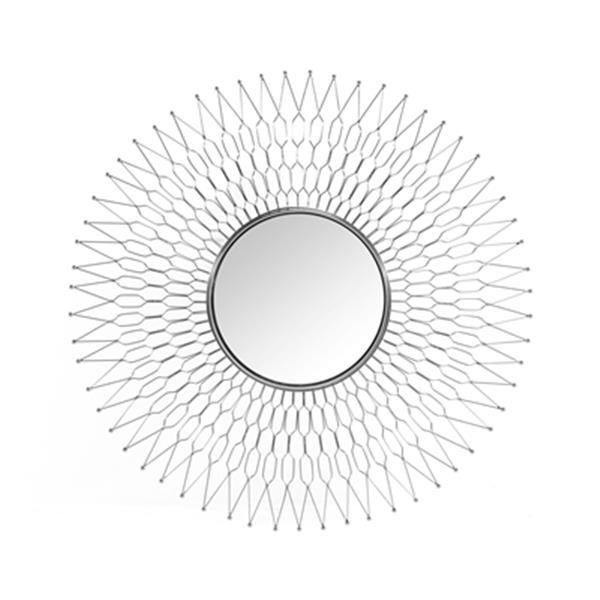 Home Gear 41.6-in Silver Athena Sunburst Wall Mirror