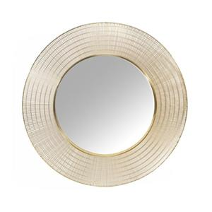 Home Gear 36-in Gold Caravel Circles Wall Mirror